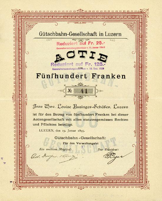Gütschbahn-Gesellschaft in Luzern