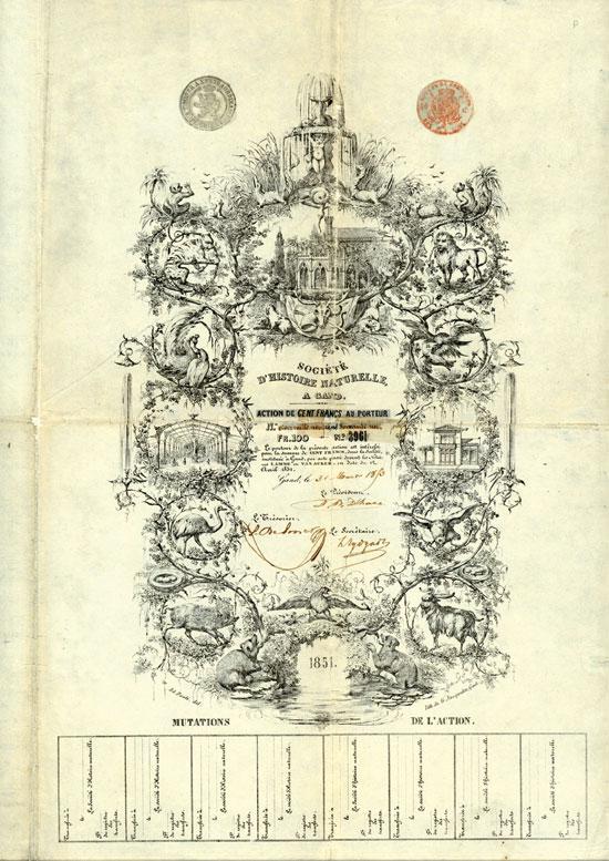 Société d'Histoire Naturelle a Gand