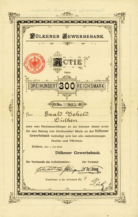 Dülkener Gewerbebank AG