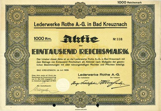 Lederwerke Rothe AG in Bad Kreuznach
