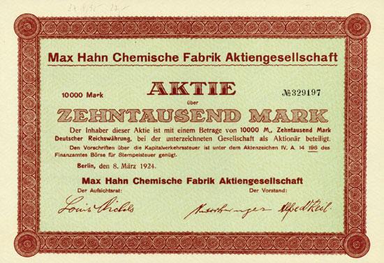 Max Hahn Chemische Fabrik AG
