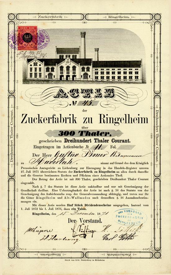 Zuckerfabrik zu Ringelheim