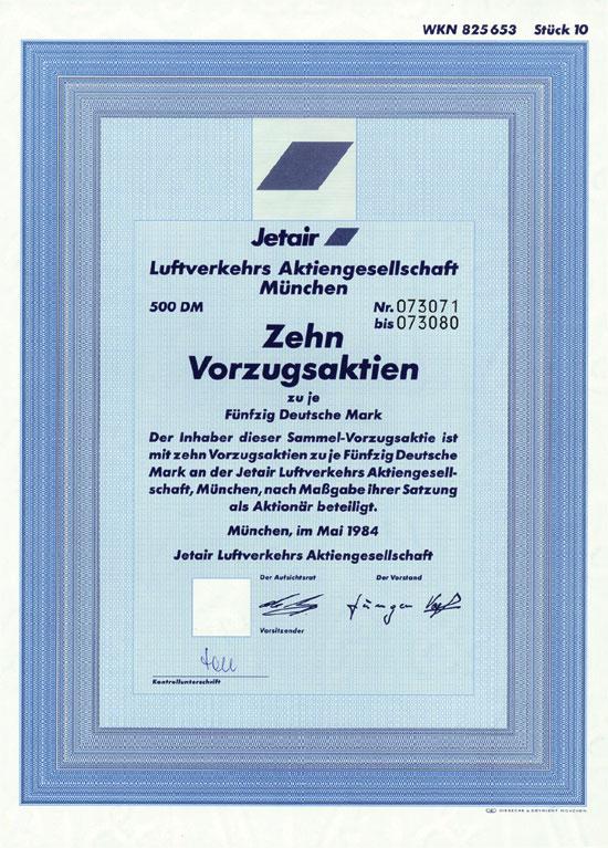 Jetair Luftverkehrs AG München