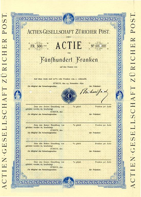 Actien-Gesellschaft der Züricher Post