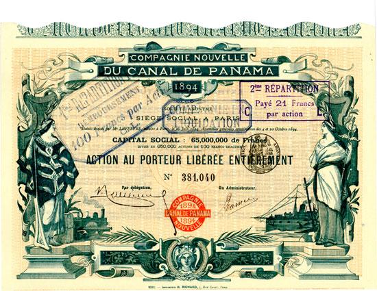 Compagnie Nouvelle du Canal de Panama 1894 Société Anonyme