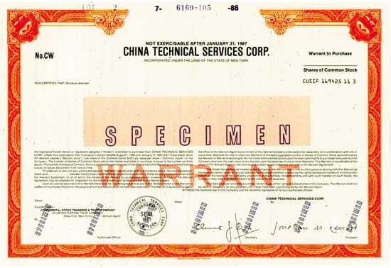 China Technical Services Corp.