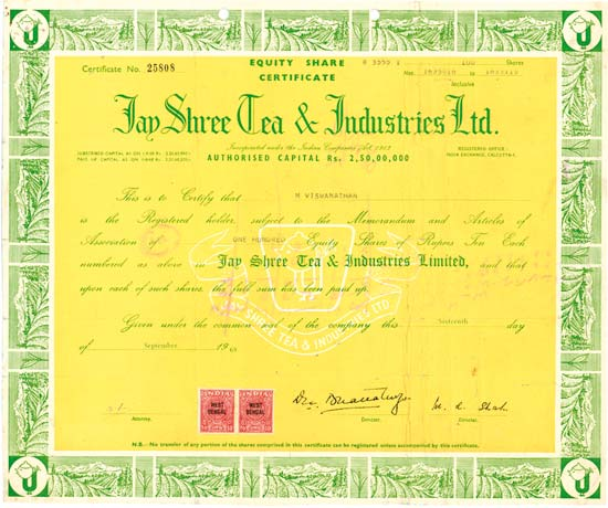 Jay Shree Tea & Industries Ltd.