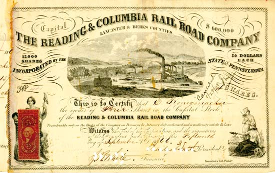 Reading & Columbia Rail Road Company