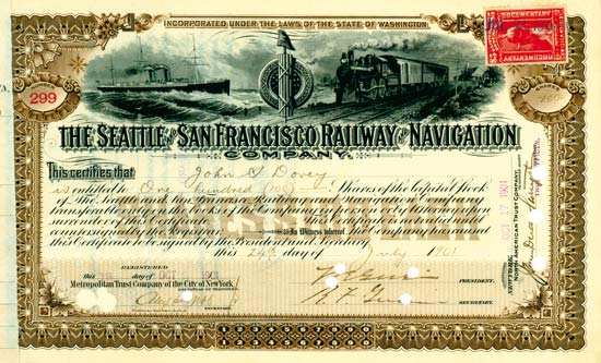 Seattle and San Fransisco Railway and Navigation Company