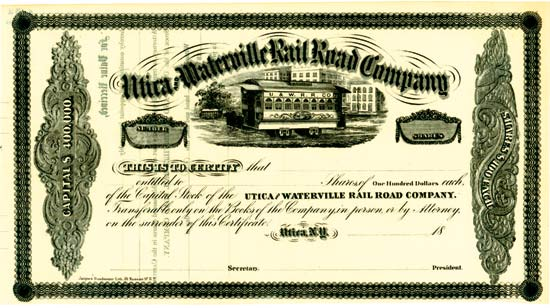Utica and Waterville Rail Road Company
