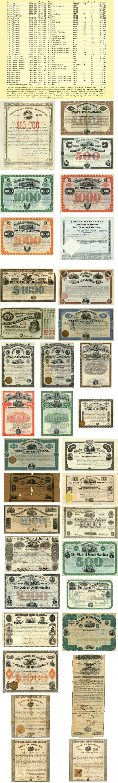 Southern State Bonds [41 Stück]